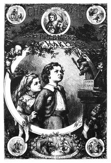 NAST: CHRISTMAS, 1870. Engraved cover by Thomas Nast for a Christmas Supplement