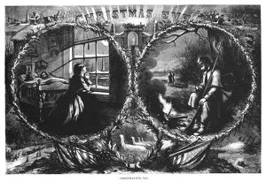 NAST: CHRISTMAS EVE, 1862. Christmas Eve during the Civil War