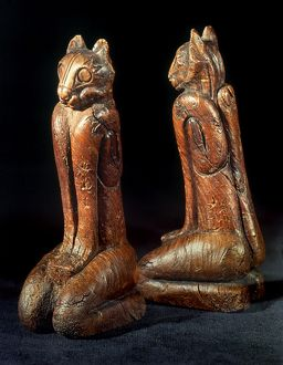 cats/native american carvings southeastern native