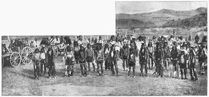 NATIVE AMERICAN DANCERS. 'Part of the Eighth United States Cavalry at the Great