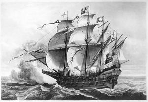 NAVAL SHIP: GREAT HARRY. The 'Great Harry' (Henri Grace a Dieu), English carrack