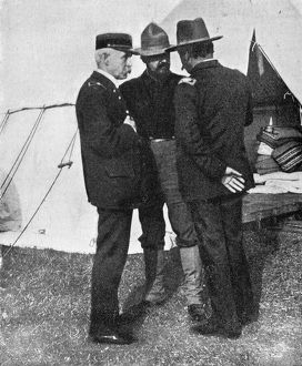 NEW YORK: CAMP WIKOFF, 1899. Surgeon General Sternberg and Chief Surgeon Colonel