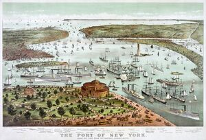 NEW YORK HARBOR, 1892. 'The Port of New York