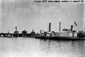 NEW YORK: HOFFMAN ISLAND. A 'plague ship' carrying immigrants with infectious