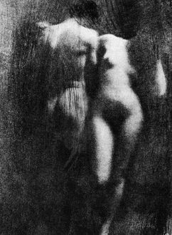 adam eve/nude couple 1910 adam eve nude study 1910