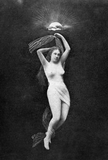 erotica/nude floating 1890s nude study 1890s unidentified