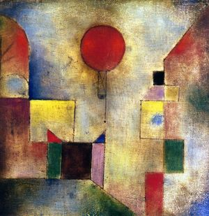 Oil on gauze and board by Paul Klee. EDITORIAL USE ONLY.