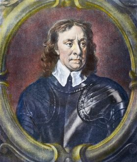 OLIVER CROMWELL (1599-1658). English soldier and statesman. Mezzotint, English
