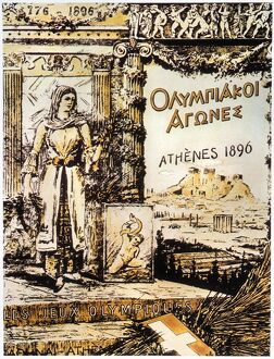 OLYMPIC GAMES, 1896. Poster from the first modern Olympic Games, held in 1896 at Athens