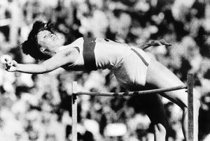OLYMPIC POLE VAULT, 1972. Ulrike Meyfarth of West Germany winning the gold medal