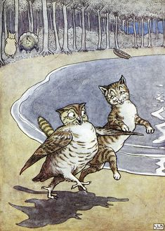 OWL AND THE PUSSYCAT. Illustration by Leslie Brook (1862-1940) for Edward Lear's