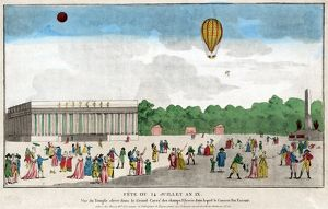 PARIS: BASTILLE DAY, c1801. The celebration of Bastille Day, 14 July, on the Avenue