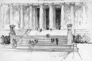 PENNELL: LINCOLN MEMORIAL, c1922. Steps leading up to the Lincoln Memorial in Washington