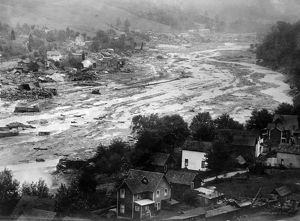 PENNSYLVANIA: FLOOD, 1911. A view of Austin, Pennsylvania, after the failure of the