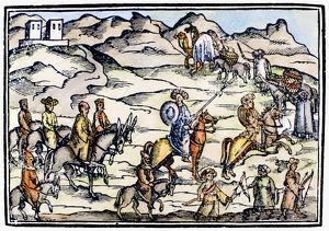 PILGRIMS, 17th CENTURY. Pilgrims travelling to Jerusalem