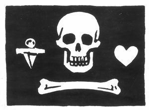 PIRATES: JOLLY ROGER FLAG. Flag of the English pirate, Stede Bonnet.