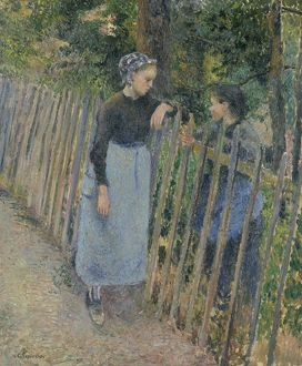 PISSARRO: CONVERSATION. Oil on canvas, Camille Pissarro, c1881