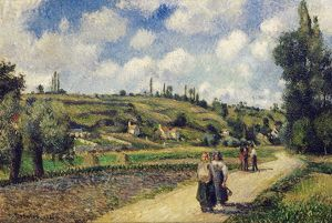 PISSARRO: LANDSCAPE, 1881. 'Landscape near Pontoise, the Auvers Road