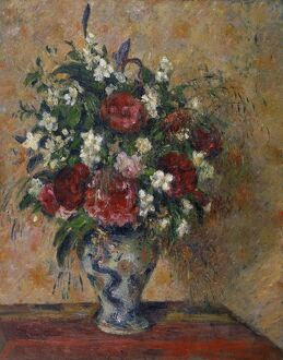 PISSARRO: STILL LIFE, C1874. 'Still Life with Peonies and Mock Orange