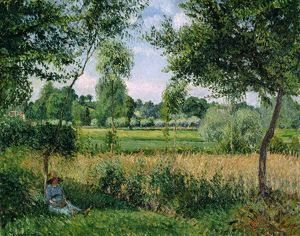 PISSARRO: MORNING SUNLIGHT. 'Morning Sunlight Effect, Eragny.' Oil on canvas