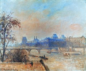 PISSARRO: SEINE, 1903. Camille Pissarro: The Seine and the Louvre. Oil on canvas, 1903.