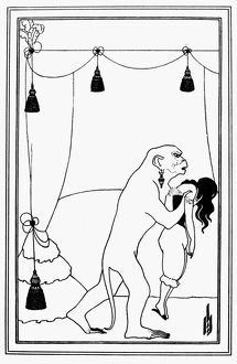 POE: RUE MORGUE, 1841. Drawing by Aubrey Beardsley for an 1895 edition of Edgar Allan