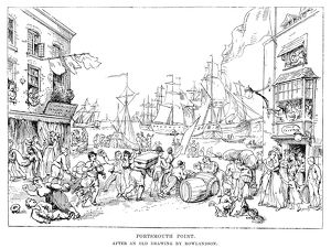 PORTSMOUTH POINT, c1814. The port at Portsmouth, Hampshire, England