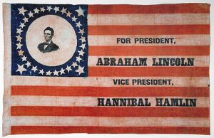 american patriotism/presidential campaign 1860 abraham lincoln republican