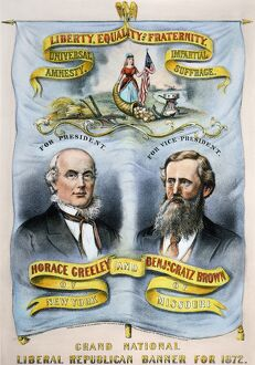 currier ives/presidential campaign 1872 horace greeley benjamin
