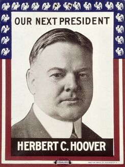 PRESIDENTIAL CAMPAIGN, 1928. A presidential campaign lithographic poster supporting Herbert Hoover