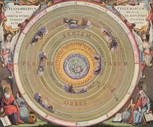 astronomy/ptolemaic universe 1660 representation ptolemaic