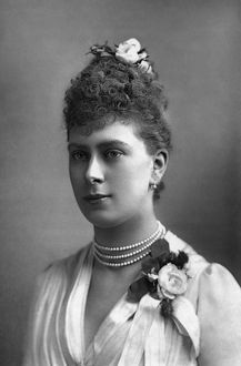 QUEEN MARY (1867-1953). Queen consort of King George V of Great Britain. Photograph by W