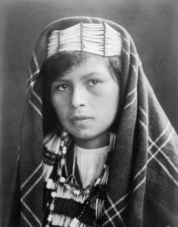 QUINAULT WOMAN, c1913. Portrait of a young Quinault woman from the Pacific Northwest