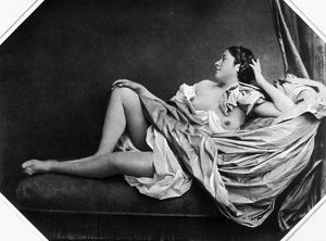 erotica/reclining nude 1859 photographed 1859 bisson