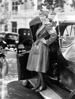 RED CROSS, 1917. A member of the American Red Cross Motor Corps, 1917.
