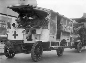 RED CROSS: AMBULANCE. A Red Cross ambulance of the National Guard of the State of New York