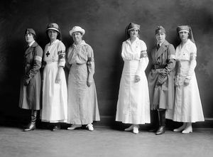 RED CROSS CORPS, c1920. A group of American Red Cross nurses. Photograph, c1920.