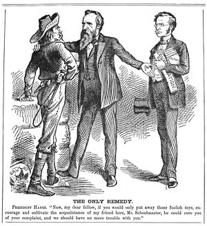 'The Only Remedy.' A comment in a Northern newspaper of 1880 on President