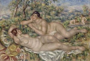 RENOIR: BATHERS, C1918. Oil on canvas, Pierre-Auguste Renoir, c1918