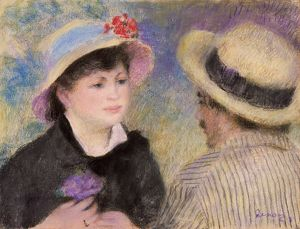 RENOIR: BOATING COUPLE. Pastel on paper, Pierre-Auguste Renoir, c1881