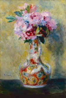 RENOIR: BOUQUET IN A VASE. Oil on canvas, Pierre-Auguste Renoir, 1878