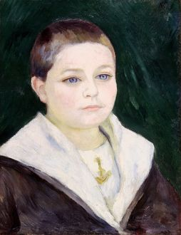 RENOIR: BOY, c1884. Pierre Auguste Renoir: Portrait of a Boy. Oil on canvas, c1884.