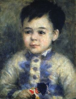 RENOIR: BOY & TOY SOLDIER. Oil on canvas by Pierre Auguste Renoir, n.d.