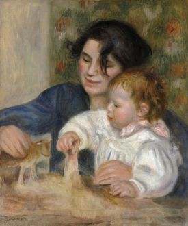 RENOIR: GABRIELLE AND JEAN. Oil on canvas, Pierre-Auguste Renoir, c1895
