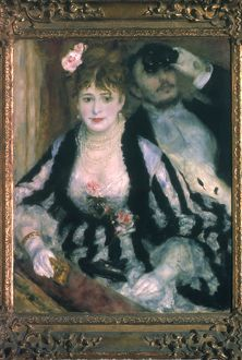 RENOIR: LA LOGE, 1874. The Theater Box. Canvas, 1874, by Pierre-Auguste Renoir.