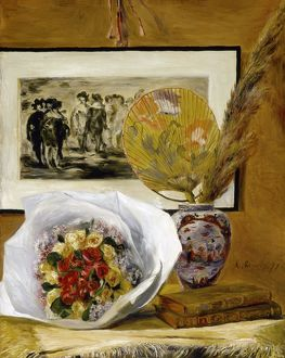RENOIR: STILL LIFE, 1871. 'Sill Life with Bouquet
