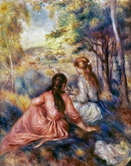 RENOIR: MEADOW, c1890. Pierre Auguste Renoir: In the Meadow. Oil on canvas, c1890.