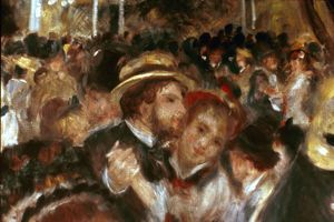 RENOIR:MOULIN DE LA GALETTE (detail). Oil on canvas, 1876.