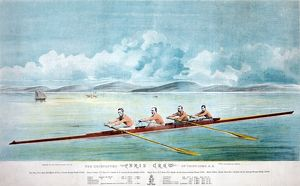 ROWING TEAM, c1875. The Paris Crew, a Canadian rowing team fron Saint John, New Brunswick