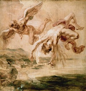 adam eve/rubensfall icarus 1637 peter paul rubens fall